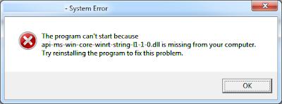 Error api-ms-win-crt-runtime-l1-1-0.dll