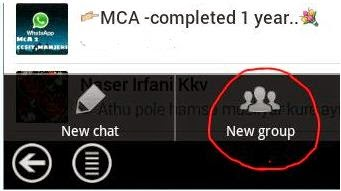 creating a new group in whatsapp