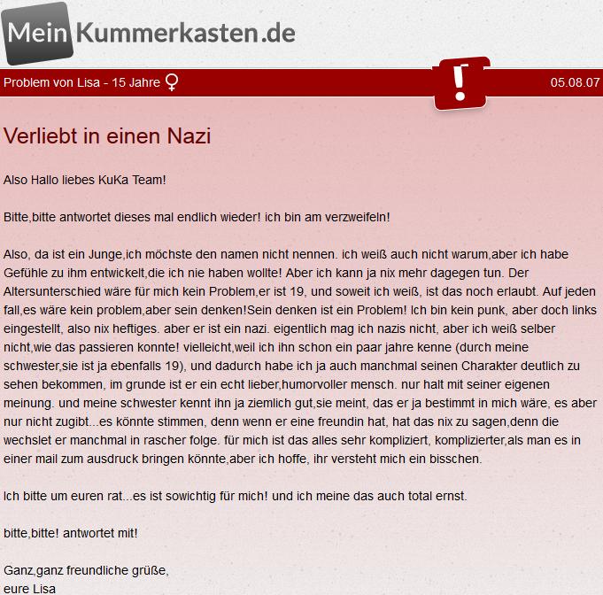 Verliebt in einen Nazi
