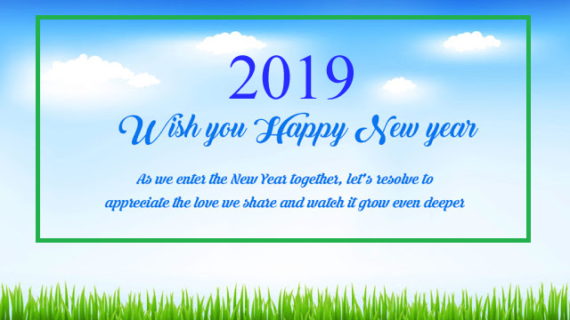 Happy New Year Wishes 2019 For Pals and Family- Best Collections