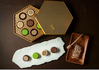 Source: Shangri-La Hotel, Singapore. The Honey Chocolate Collection.