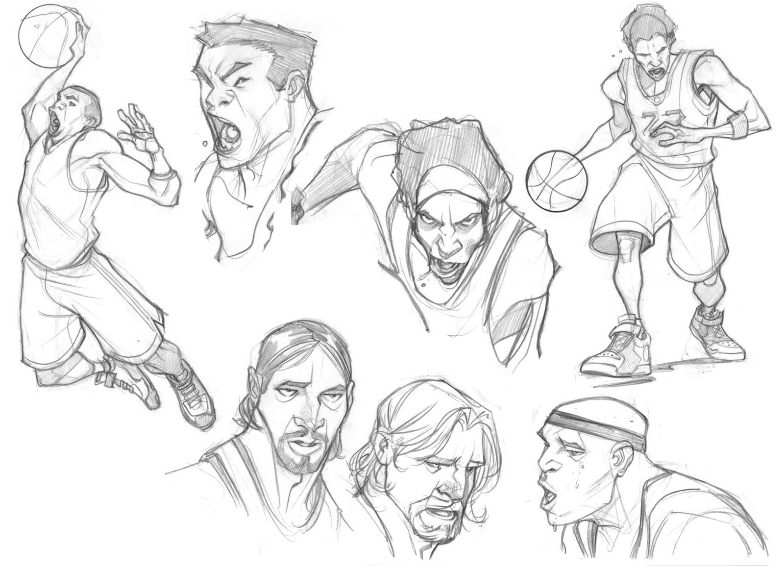 Zurdo Molina Portfolio: Sketches ESPN Video Games