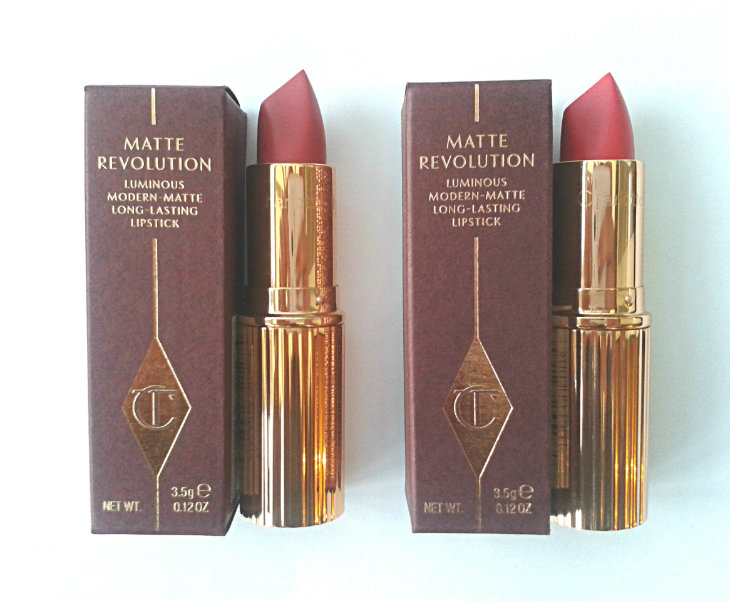 Charlotte Tilbury Matte Revolution Lipsticks in Amazing Grace and Lost Cherry