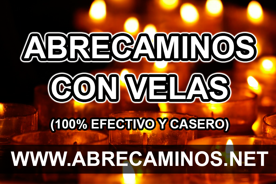 Abrecaminos con velas