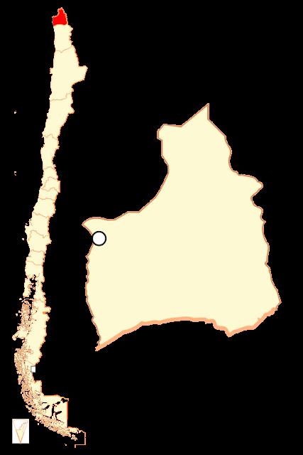 Mapa de localização Região Arica e Parinacota - Chile