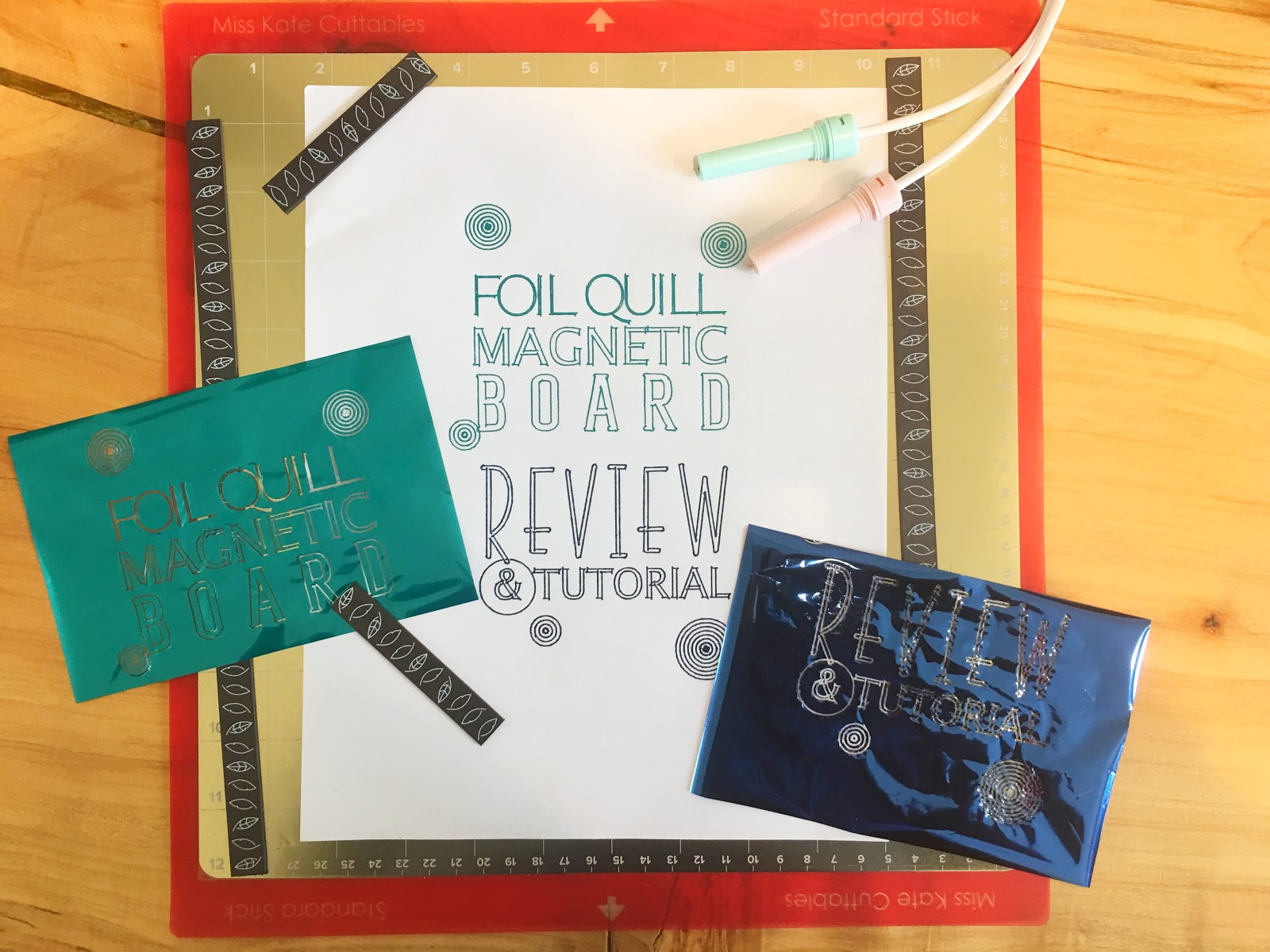 Foil Quill Magnetic Mat Board Review & Tutorial - Silhouette