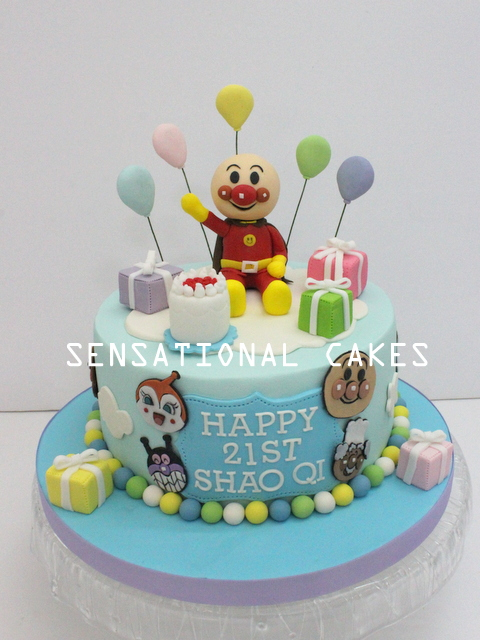 The Sensational Cakes Anpanman 3d Cake Singapore New