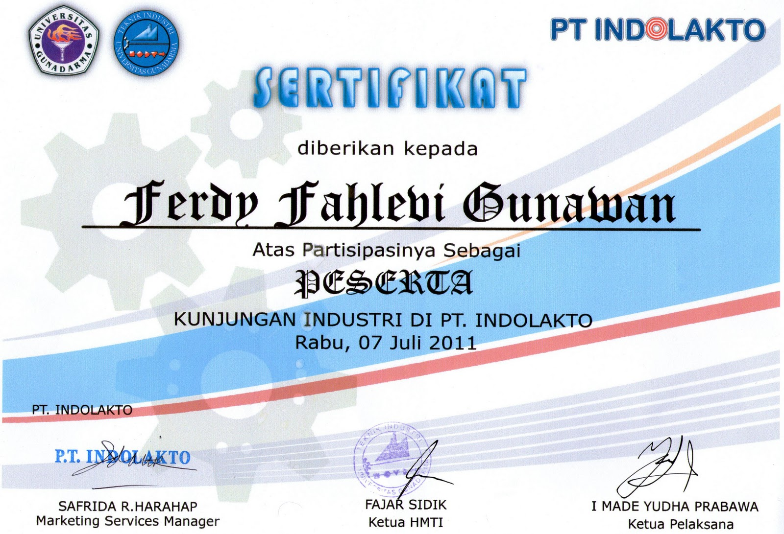 Welcome To Gunawan Corp Kumpulan Sertifikat Dari Kampus