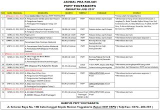 Jadwal PSPP Penerbangan Juni 2017 kampus Yogyakarta