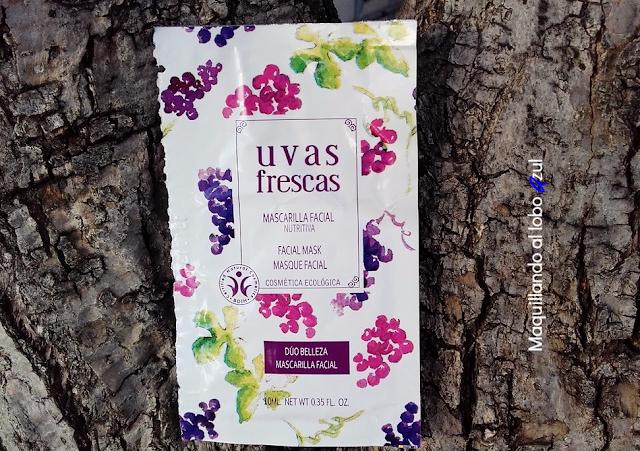Mascarilla facial Nutritiva de Uvas Frescas