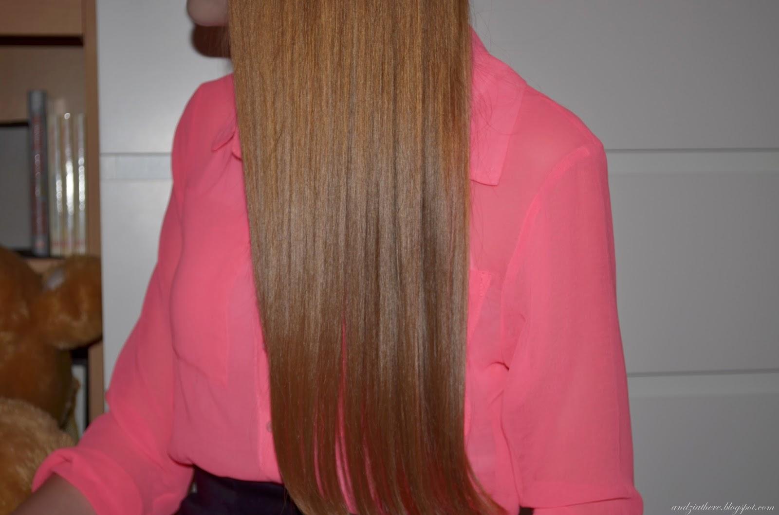 tafla włosów po keratynie