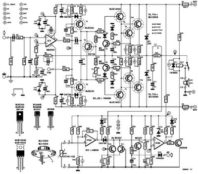 Forum Diagram: 300W Power Amplifier Elektor