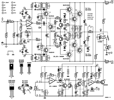 300w Power  lifier Elektor on wiring diagram 2 channel amplifier