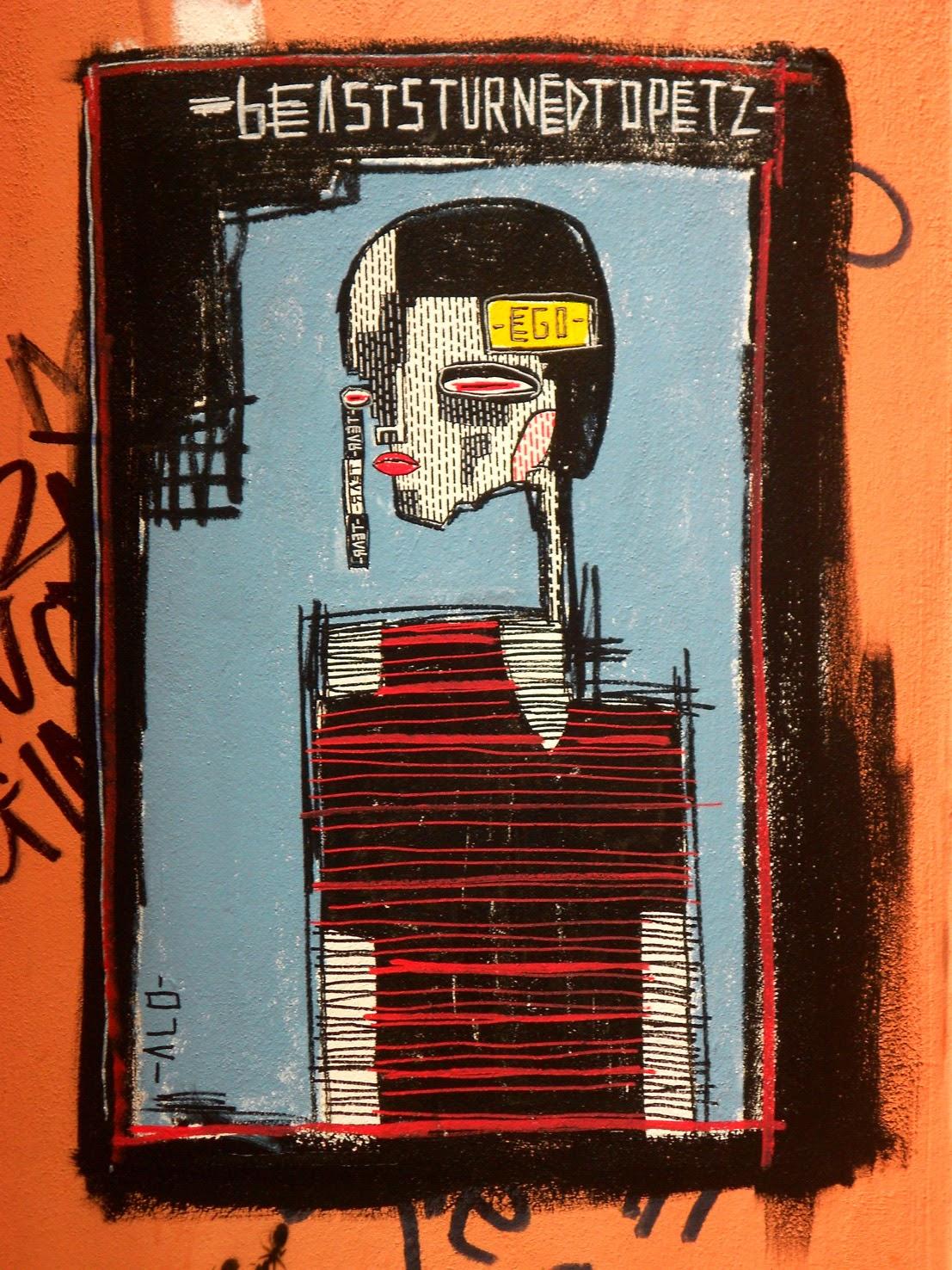 alo - aloart - painting - painter - graffiti - london - paris - artist - urban expressionism - urban art - street art - instaart