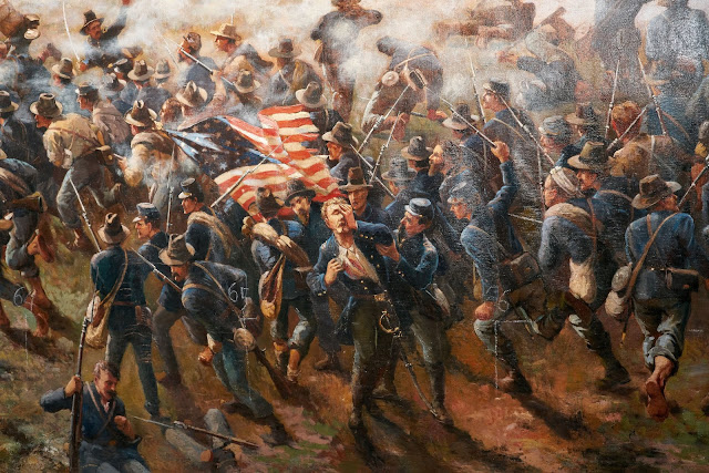 Atlanta History Center - Painting Close Up of Solider Scene