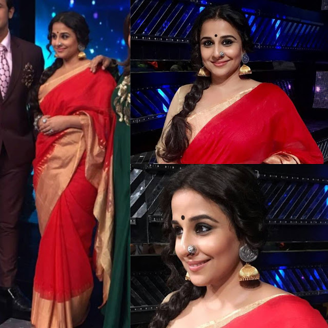 Vidya Balan In Mint Oranges at Indian Idol