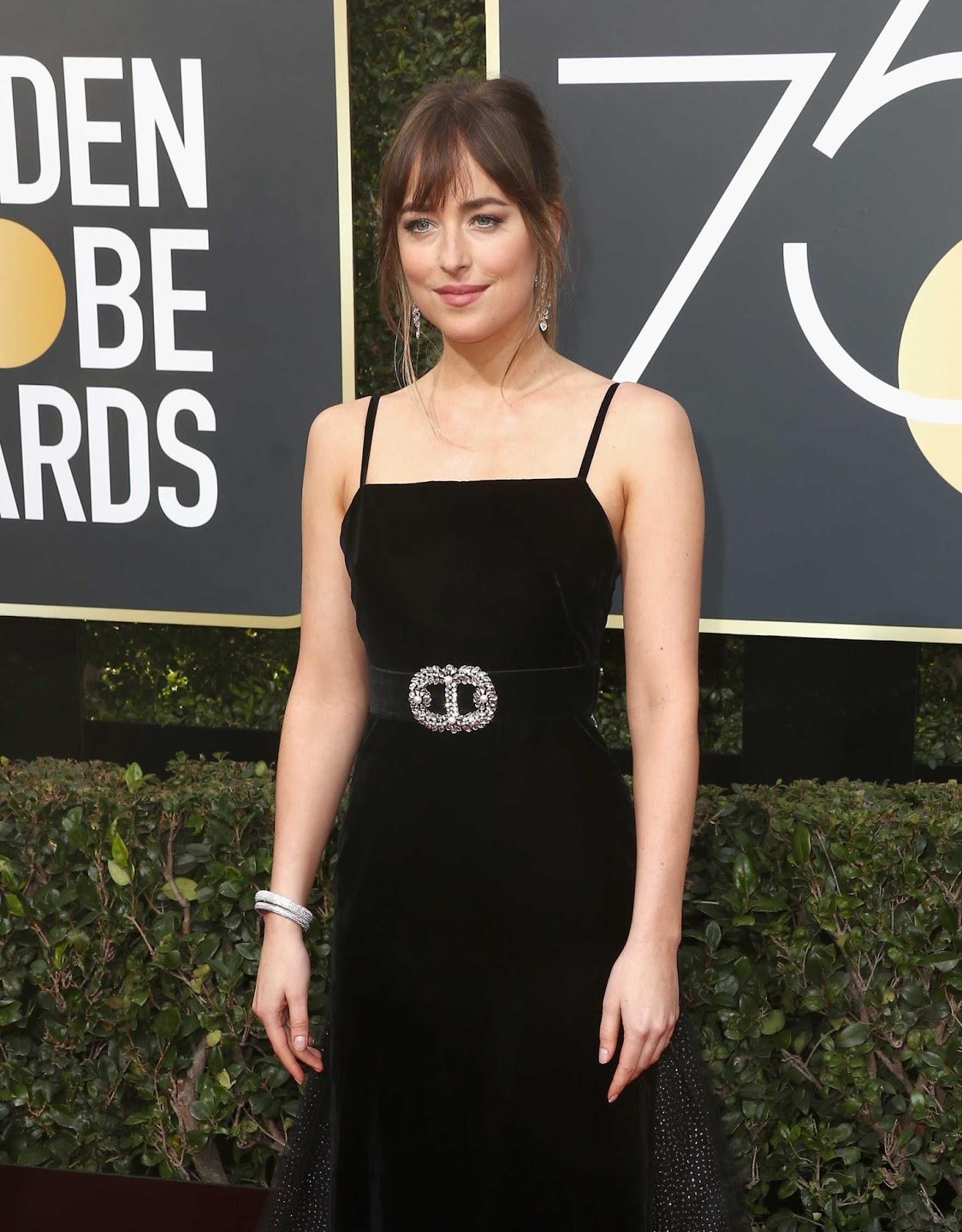 Dakota Johnson Dress on the 75th Annual Golden Globe Awards