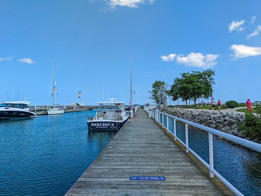 On the Dock at the Port Washington Marina