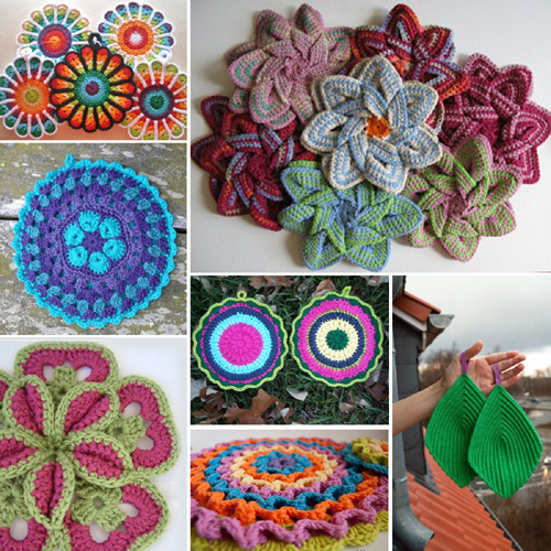 Art in the Kitchen: Crochet Potholders and Hot Pads Read