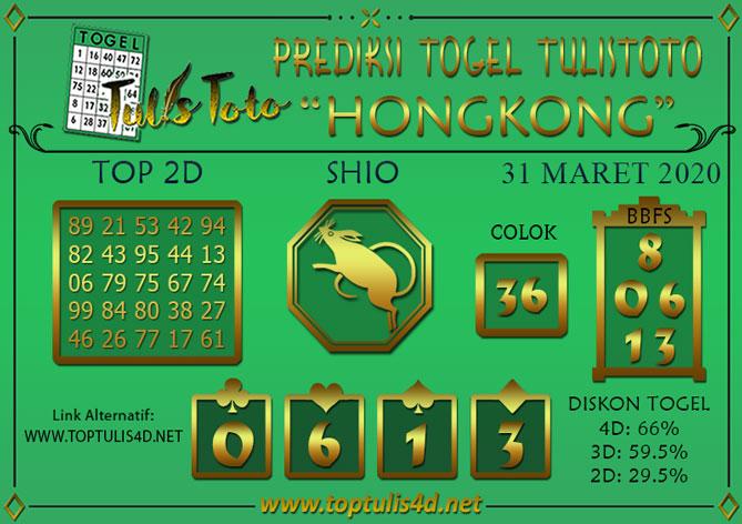Prediksi Togel HONGKONG TULISTOTO 31 MARET 2020
