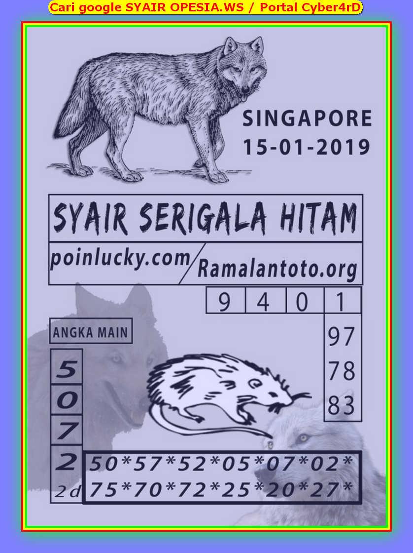 Kode syair Singapore Rabu 15 Januari 2020 100