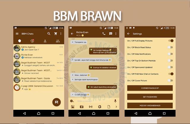 download BBM Mod Brawn Apk Versi 2.13.1.14 Terbaru