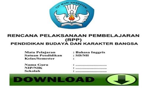 RPP Bahasa Inggris Kelas 1 SD/MI Semester 1 Kurikulum 2013 Edisi Terbaru