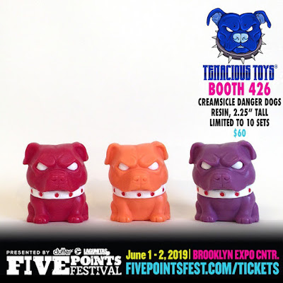 Five Points Festival 2019 Exclusive Creamsicle Danger Dogs Resin Figures by NEMO x Tenacious Toys x Dead Hand Toys