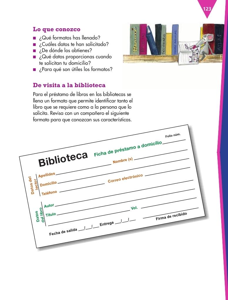 Explorar y llenar formularios bloque iv lecci n 12 for Cuarto primaria