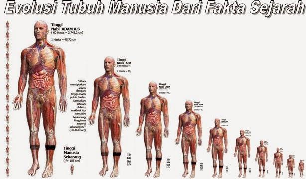 tinggi badang dan postur tubuh nabi adam manusia pertama