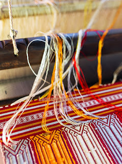 creating silk textiles - loom