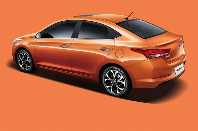 New 2017 Hyundai Verna new orange color