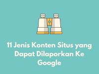 11 Jenis Konten Situs yang Dapat Dilaporkan Ke Google