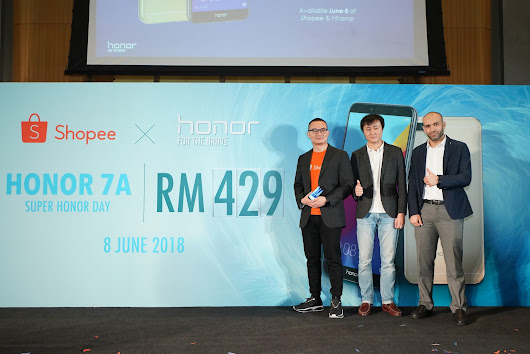 Super honor Day Menampilkan honor 7A dan honor 10 Edisi Phantom Green Secara Eksklusif di Shopee Malaysia