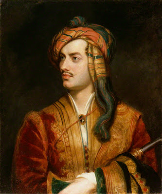 Lord Byron painted by Thomas Phillips in 1813.