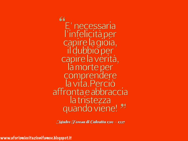 Amato Aforismi e citazioni famose: Citazione Bella Madre Teresa di Calcutta WC12
