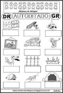 Autoditado para alfabetização com dr,gr