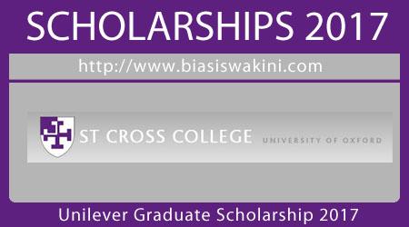 Unilever Graduate Scholarship 2017