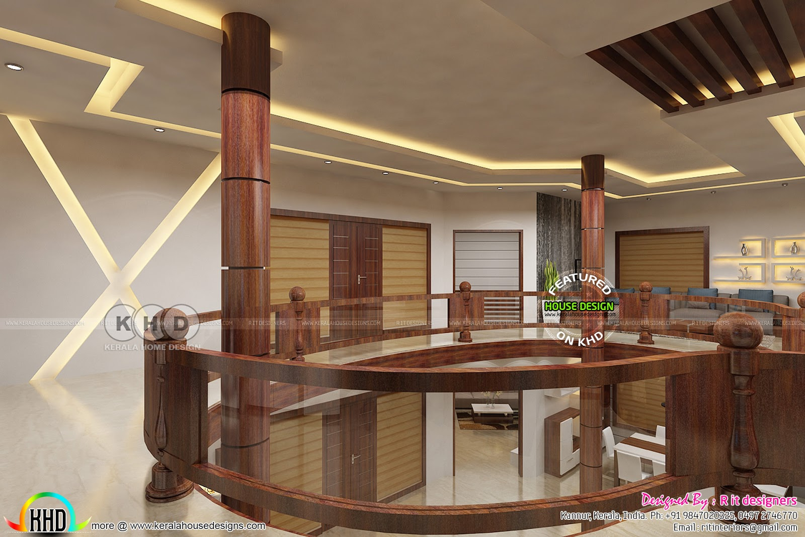 S Design Interieur Upper Floor Interior Designs By Rit Interiors Kerala