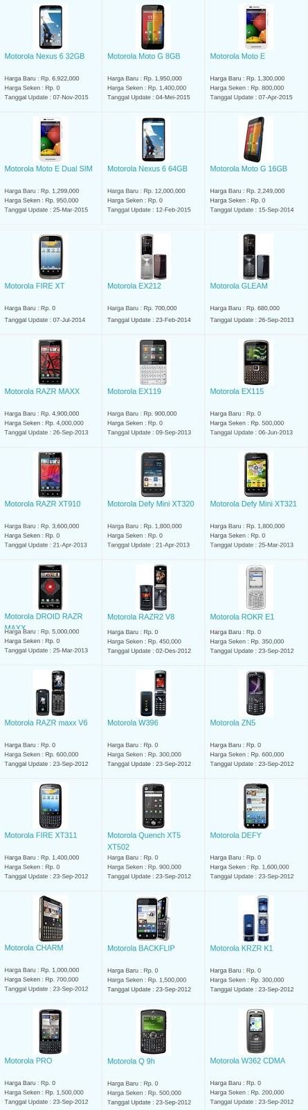 Daftar Harga Hp Terbaru Motorola Mei 2016