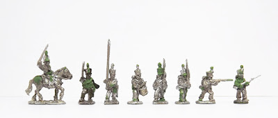 Dutch mounted officer / Line command x 3 / March attack x 2 / Firing line x 2: