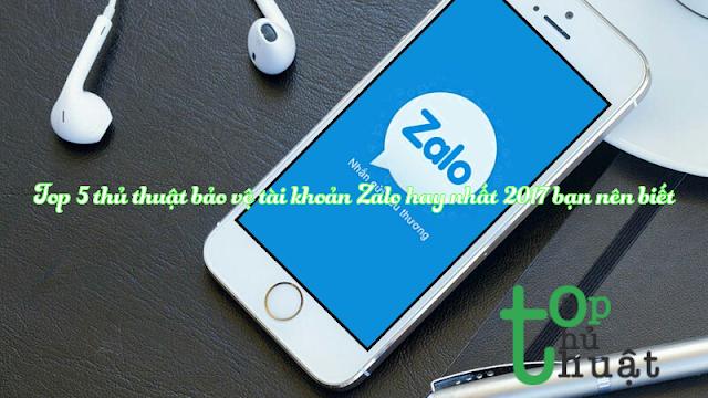 thủ thuật bảo vệ tài khoản Zalo