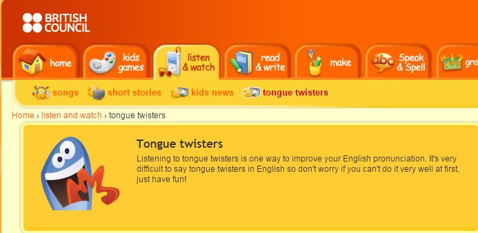 Tongue twister british council