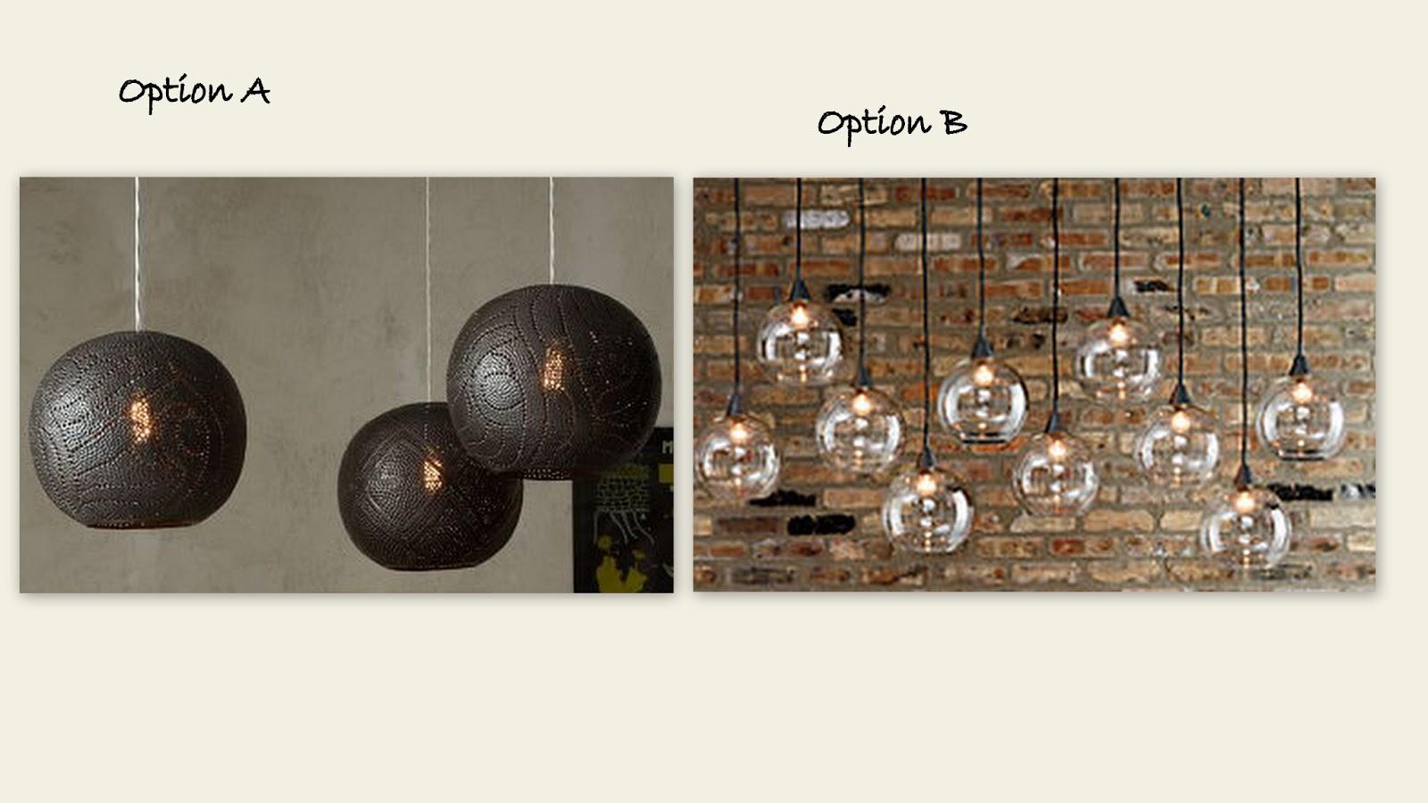 Option B Clear Globe Pendant Fixtures