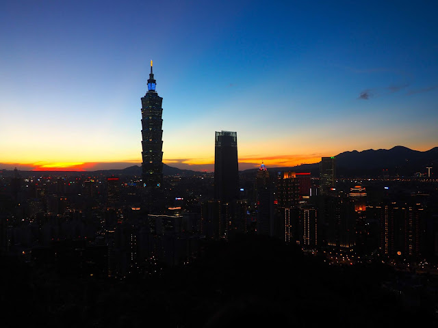 Sunset from Elephant Mountain, Taipei, Taiwan