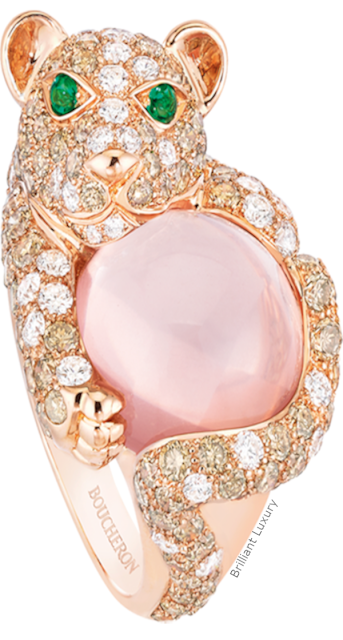 Brilliant Luxury♦Boucheron Paris Shibli Lion Cub ring