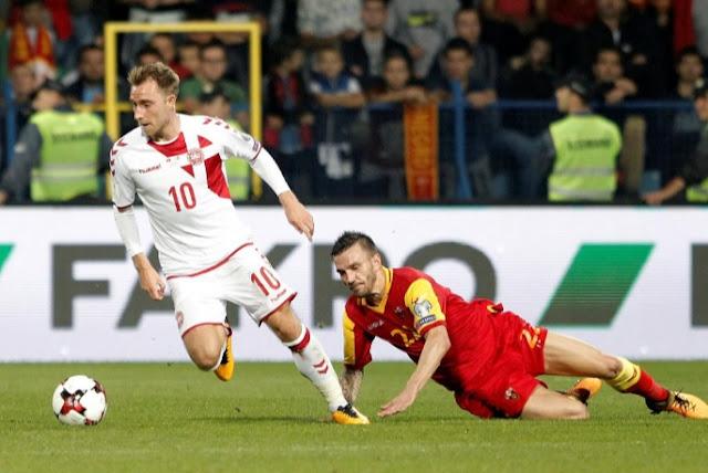 Christian Eriksen autor de el gol que dio a Dinamarca un triunfo dorado contra Montenegro en las Eliminatorias Rusia 2018
