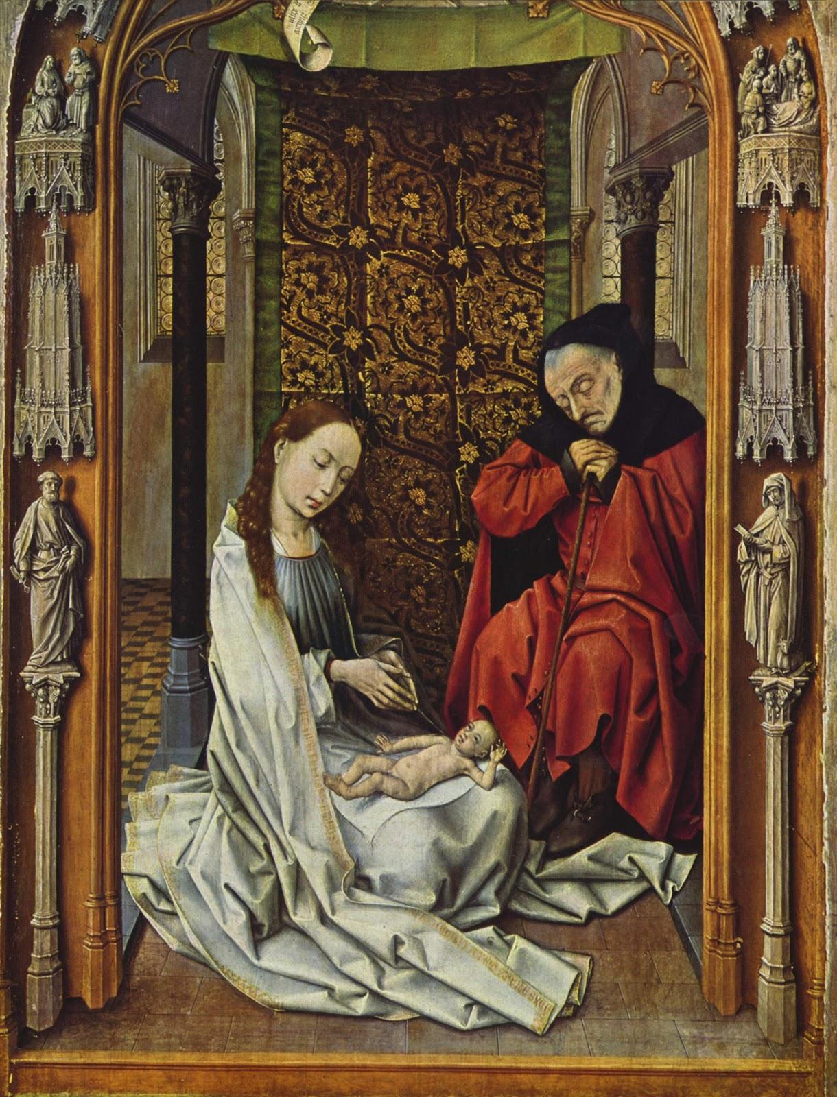 Roger Van der Weyden, La Adoración del Niño (Capilla Real de Granada).