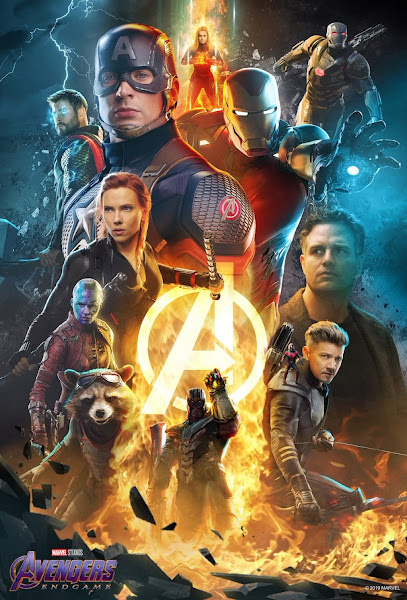 Poster of Avengers: Endgame (2019) Dual Audio [Hindi-Cleaned] 720p BluRay ESubs Download