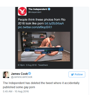 , British Newspaper accidentally posted Porn After trying to tweet about Olympic divers, Latest Nigeria News, Daily Devotionals & Celebrity Gossips - Chidispalace